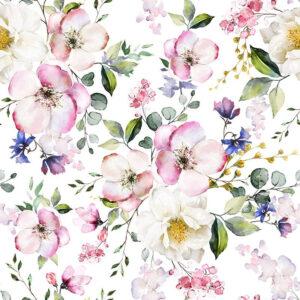 Letní květy látka