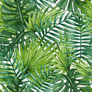 Tropické listí látka