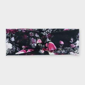 Čelenka - Květy na černé