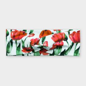 Čelenka - Tulipány na bílé