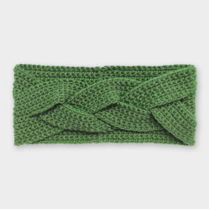 Čelenka - Jedlově zelená copánková