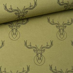 Deer olivová látka