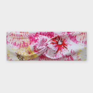 Čelenka - Batika květy fuchsiové
