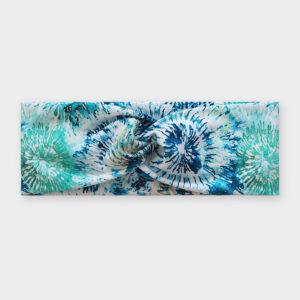 Čelenka - Batika květy modré