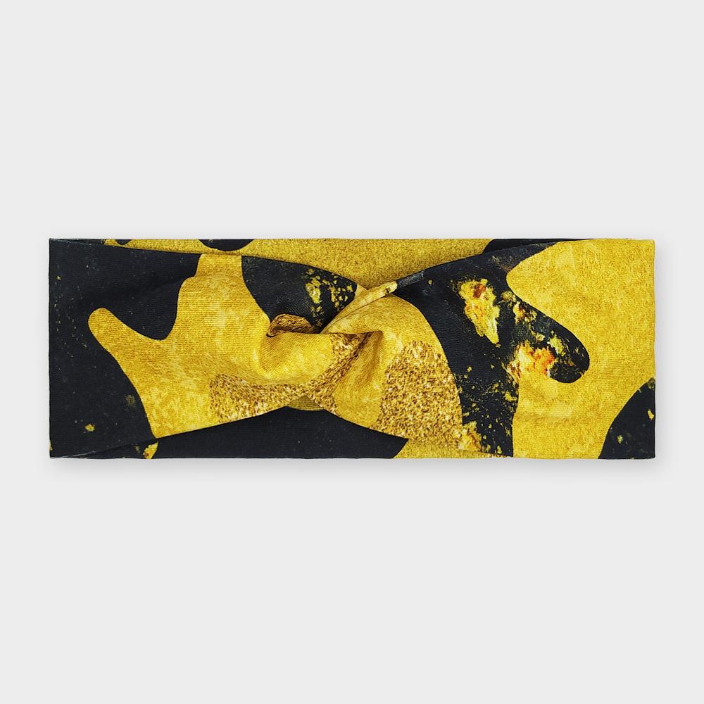 Čelenka - Černozlatý maskáč
