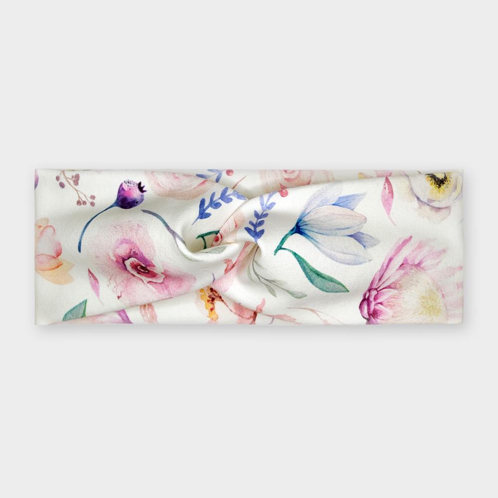 Čelenka - Hedvábné květy