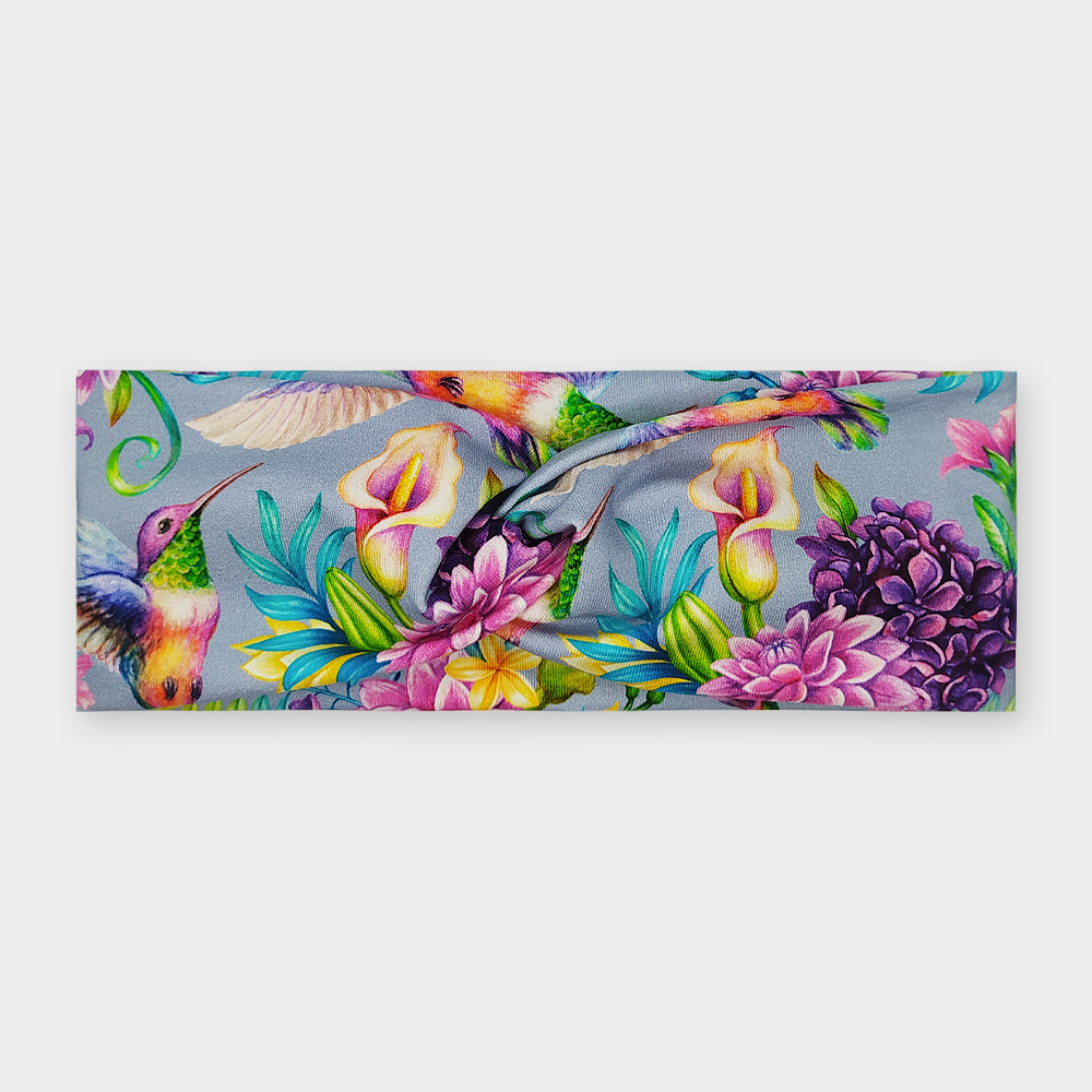 Čelenka - Kolibřík a květiny